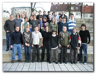 Gruppenfoto vom Robotik-Kurs 2007/08